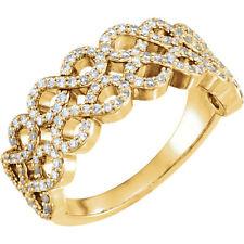 Diamond Infinity-Inspired Ring In 14K Yellow Gold (3/8 ct. tw