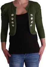 Womens Casual Ruched 3/4 Sleeve Cardigans Fashion Ladies Fashion Shrugs