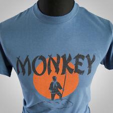 Mono Mágico (Azul) Tv Tema Retro Camiseta Artes Marciales Kung Fu Cult