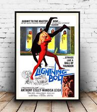 Lightning bolt , Vintage B Movie, Poster reproduction.