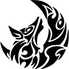 p522 Lobo Luna Tribal Pegatina Adhesivo Sticker Vinilo Logo Pared Coche Moto