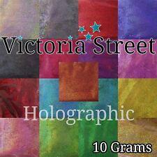 Victoria STREET Glitter 10g in OLOGRAFICA-fine polvere LASER BULK Premium In Polvere