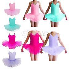 Kinder Mädchen Ballettanzug Ballettkleid Ballett Trikot Turnanzug Kleider 92-152