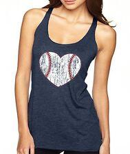 BASEBALL HEART love softball spring training mom gift work out Women's Tank Top