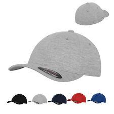 Flexfit Double Jersey Cap Kappe Strickjersey Baseballcap Original S/M L/XL Neu