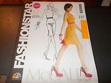 McCalls Pattern M6699 Ms EZ FASHION STAR Sleeveless Dress Fitted Bodice