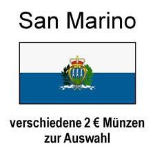 San Marino - 2 Euro Gedenkmünzen und Kursmünzen - Auswahl - bankfrisch unc.