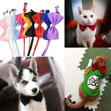 Cat  Puppy Adjustable Necktie Bow Dog Tie Elegant Solid Color Accessories Gift
