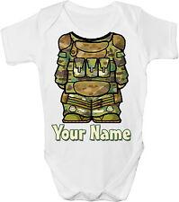 SOLDATO / MILITARE CORPO Personalizzato Baby Gilet / Gro / BODY * Grande Regalo & denominata *