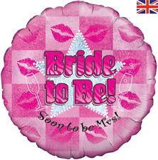 """18 """"BRIDE to BE presto ad essere onorevole, Elio OLOGRAFICA FOIL balloon!ideal GALLINA!"""