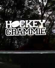Hockey Grammie Grandma Sports Puck Car Truck Laptop Window Decal Sticker