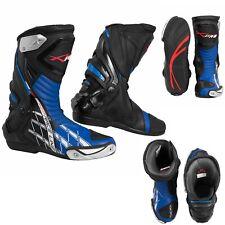 Stivali Omologati CE Moto Quad Motocross Touring Sport Blu