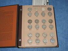 1932-1998PD Washington Quarter Starter Set in Dansco Album 77 silver coins B9344