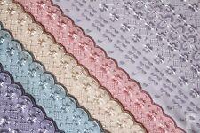 Borde doble (borde festoneado) de poliéster tejido de algodón-Ancho 142 Cm