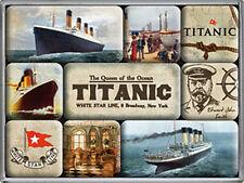 Titanic set of 9 mini fridge magnets   (na)