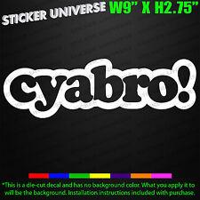 CYABRO Funny Car Window Decal Bumper Sticker JDM Turbo Drift Race Euro VDUB 520