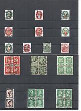 Deutsches Reich 1923 - 1931, Einzelmarken aus MiNrn: 338 - 462 o, zur Auswahl