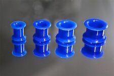 Tunnel Silikone Plug Flesh Piercing Double Flared Ohr Ohrschmuck blau