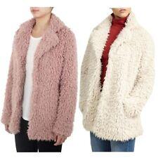 Ladies Gabriel Shaggy Satin Line Super Soft Fluffy Coat Faux Fur Jacket 8-16