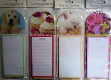 Magnético separe Notebook/lista de compras & Lápiz Set (cachorro, gatito, Cupcakes)