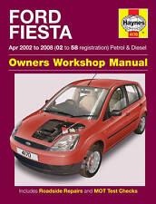 FORD FIESTA ESSENCE DIESEL 02-08 (02-58 reg) Haynes manuel de réparation atelier 4170