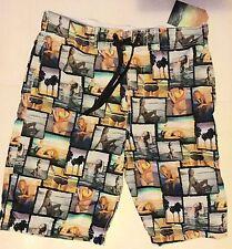 Mens Swimming / Board Shorts in Multi Colour with Beach Ladies design