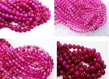Ukcheapest-Pink dragonvein Ágata Fuego Redondo, Facetado 4 6mm Piedras Preciosas Perlas