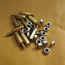 50X M2.5 Innen/Aussen Distanzbolzen Abstandsbolzen 5-35mm mit Mutter spacer nut