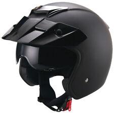 Jethelm 723 matt schwarz Sturzhelm Helm Rollerhelm Motorradhelm  S M L XL