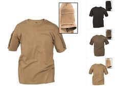 Mil-tec Tactical t-shirt con bolsa uso camisa camisa Negro Verde oliva Coyote s-3xl