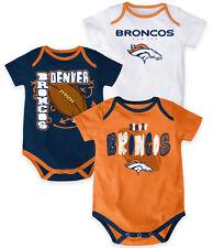 NFL Denver Broncos INFANT 3-Point Spread Bodysuit Set (Set of 3)