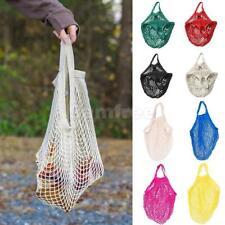 Cotton String Mesh Shopping Grocery Bag Reusable Tote Basketball Storage Net