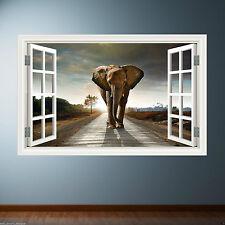 Full Colour ELEPHANT AFRICA SAFARI wall art sticker decal transfer Graphic Print