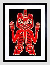 NATIVE AMERICAN BLANKET FIGURE HAIDA PEOPLE CANADA FRAMED ART PRINT B12X12234