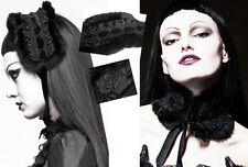 Headdress collier collerette gothique lolita baroque fourrure dentelle Punkrave