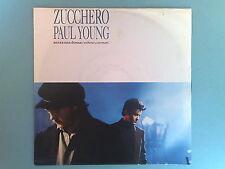 ZUCCHERO FORNACIARI & PAUL YOUNG - SENZA UNA DONNA - RARO 45 GIRI ENGLAND