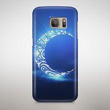 Crystal CRESCENT MOON STARS CIELO AZZURRO CELESTE che brilla Telefono Brillante Custodia Cover