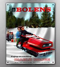VINTAGE BOLENS DIABLO ROUGE SNOWMOBILE BANNER