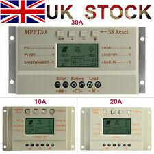 10A 20A 30A MPPT Solar Charge Controller Battery Regulator 12V/24V UK Stock