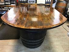 TOPNEU KONFIGURATOR Tischplatte Eichenholz Holzplatte rund / oval für Faßtisch !