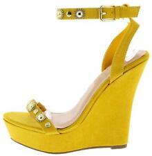 Colorful Open Toe studded Embellished Platform Wedge High Heels Sandals Size W50