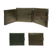 Para Hombre Small Luxury Multi compartimiento de tarjeta de crédito titular Real Cartera De Cuero 6011