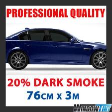 20% DARK SMOKE PRO CAR WINDOW TINT FILM ROLL 76CMx3M