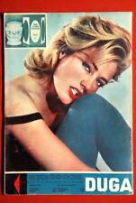 ELGA ANDERSEN ON BACK COVER 1959 RARE EXYU MAGAZINE