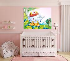3D Baby Elephant 44 Wall stickers Vinyl Murals Wall Print Decal Art AJ STORE