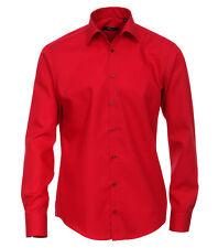 Venti Camisa UNI rojo manga larga Slim Fit Entallado Cuello KENT 100% más fina