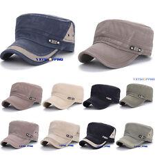 Mens Army Plain Hat Cadet Military Snapback Baseball Sport Summer Adjustable Cap