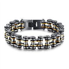 Biker Motorcycle chain Chain bracelet Stainless steel Men's Jewelry 15mm 8.06''