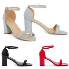 Womens Unisex Drag Queen Cross Peep Toe Buckle Ankle Plus Size Heels