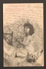 POUPEE & FILLETTE à la PRIERE , par BERGERET avant 1904